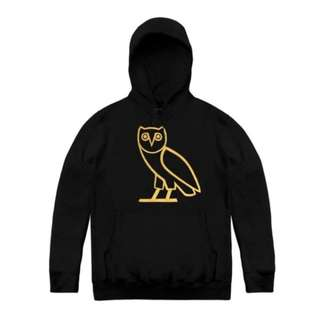 Jaket Sweater Hoodie Zipper Owl Gold Emas