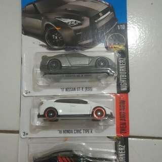 Hot Wheels Honda Civic dan Nissan