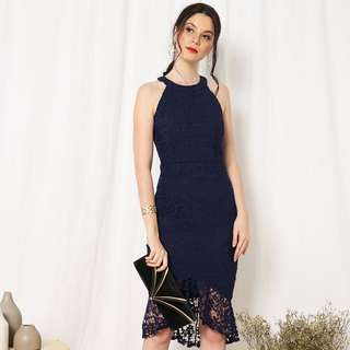 (PO) Carla Mermaid Lace Dress