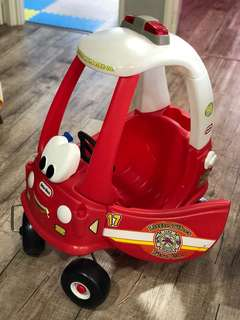 Little Tikes Fire Truck Engine Rescue Coupe car
