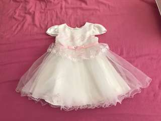 BN pink heart baby girl dress