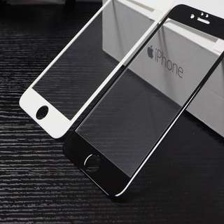 iPhone 7 / 8 Full Screen White Black Tempered Glass