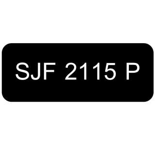 Car Number Plate for Sale: SJF 2115 P