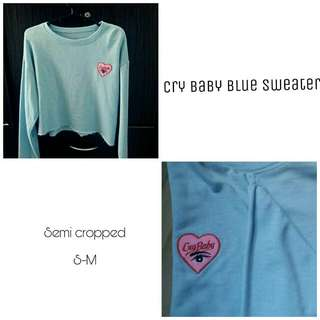 Crybaby Blue Sweater