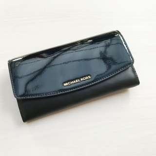 Authentic Michael Kors Trifold Wallet Black
