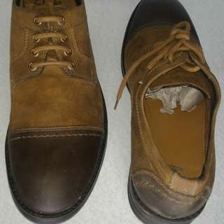 Authentic clarks mens leather shoes