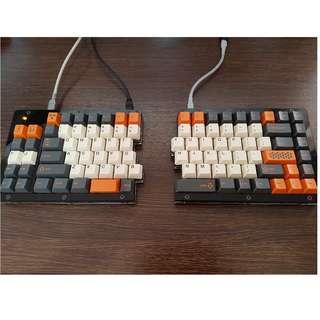 Custom split keyboard (Gateron brown switches)