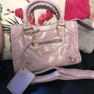Balenciaga city premium purple pastel