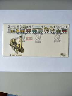 UK FDC Liverpool and Manchester railway