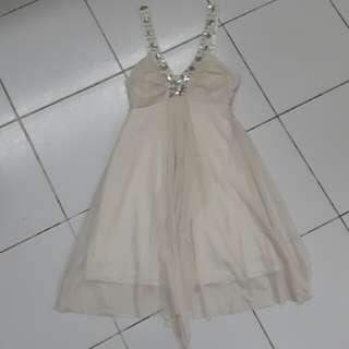 Chiffon Dress - Pearl white