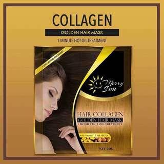 merry sun hair collagen mask