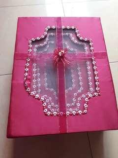 Kotak Seserahan (isi 4 pcs beda ukuran) - Pink