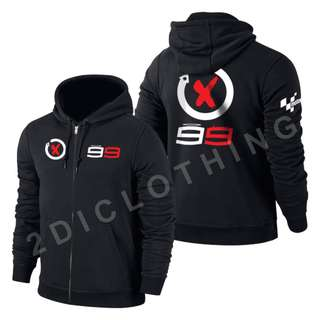 Jaket Sweater Hoodie Zipper Moto Gp Lorenzo 99