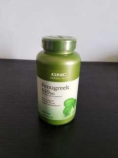GNC herbal Plus Whole Herb Fenugreek (200 Capsules)