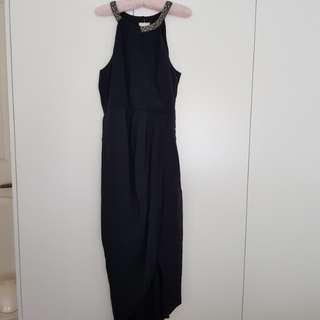 Forever New Black Silk Dress
