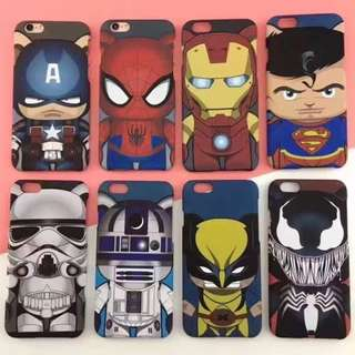 Kawaii Q Version SuperHeroes Iphone 7/7+/8/8+ Mobile Casing3