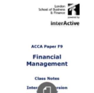 ACCA F6-F9 Textbooks, class notes and revision kits