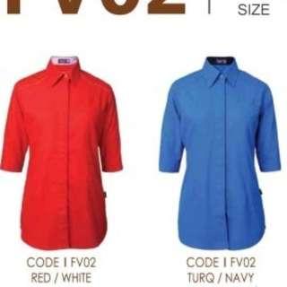 3pcs Female Classic 3/4 Sleeve F1 Uniform, Corporate Shirt, Blouse, Formal Shirt, Business Shirt