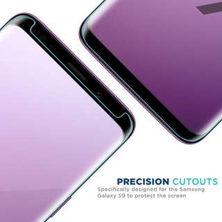Galaxy S9 S9+ Plus 3D Case Friendly Tempered Glass Screen Protector for Samsung 玻璃貼 保護貼 電話套 專用 ( Clear Color 透明 )