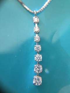 💫 靚靚 18K 天然鑽石 💎 吊嘴 吊咀 連16吋金鏈