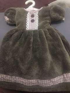 Lap tangan berbentuk dress lucu (free ongkir)