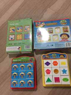 Educational Cube Puzzles (sesame street & new Macdonald farm)
