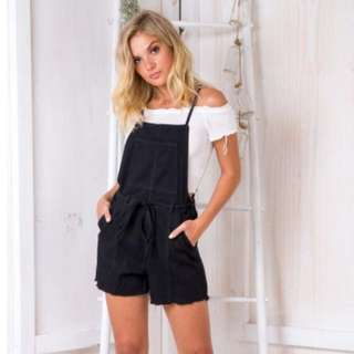 Black Overalls / Dungaree