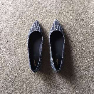 Marcs Lipstick Navy Blue Shoes Flats Ballet New