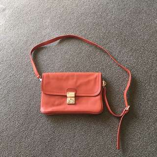 Marcs Orange Sling Shoulder Bag Leather