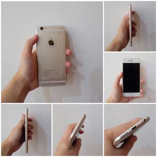 IPHONE 6 64GB GOLD 80% MULUS