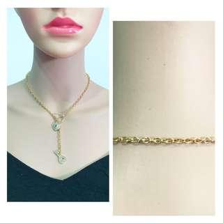 ~instock~ gold color faux diamond necklace