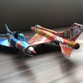 Mig-21 aluminium can handicraft