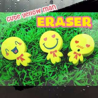 ERS001 Little Yellow Man Eraser (2pcs)