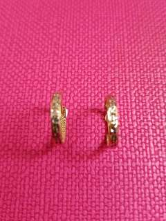 18K750 White & Rose Gold Earrings 18K750 玫瑰金白金耳圈耳環 Italy Made