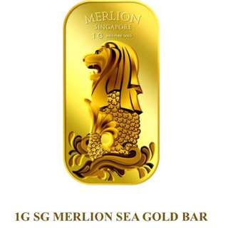 1G 999.9 MERLION SEA GOLD BAR