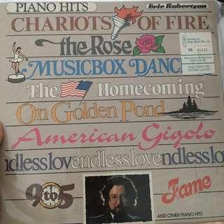 Piano hits vinyl record