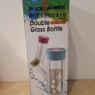 🚚 爵色雙層耐熱玻璃水瓶