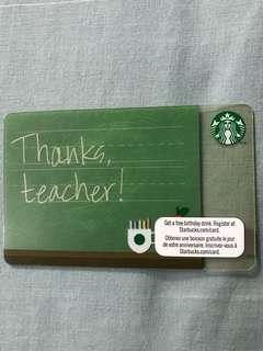 Starbucks Thanks Teacher Card USA