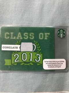 Starbucks Class of 2013 Card USA