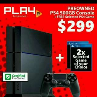 PS4 Console come with 2games