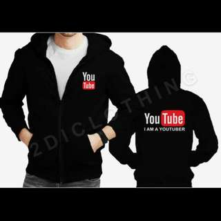 Jaket Youtube Sweater Hoodie Zipper I Am A Youtuber