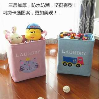 🚚 玩具大容量棉麻收納桶