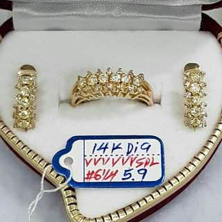 SAUDI GOLD DIAMOND SET, 100% PURE GOLD,LEGIT AND PAWNABLE.