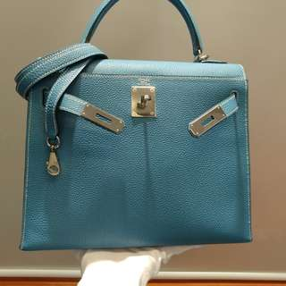 Hermes kelly 28 bluejeans togo