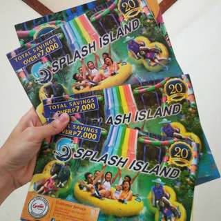 Splash Island voucher card