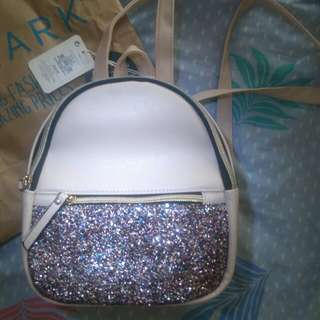 Mini glitter backpack from Primark