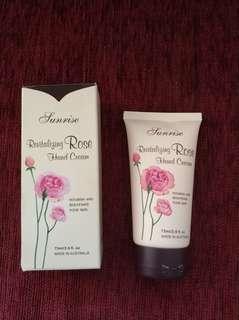 Sunrise revitalizing rose hand cream