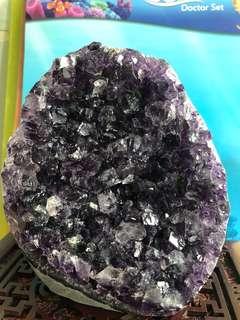 🔮紫水晶鎮擺件 , 打白燈光下紫到發黑🤩🤩🤩