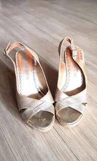 Juicy Couture Gold Wedge