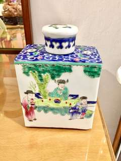 Old Porcelain Tea Caddy